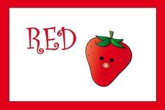 Cores: vermelho ilustração do vetor