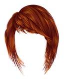 Cores womanRed na moda do ruivo do gengibre kare dos cabelos com franja Foto de Stock