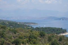 Corfù e l'Albania Immagine Stock