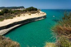 Corfù in Grecia Fotografie Stock