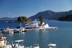 Corfú en Grecia Imágenes de archivo libres de regalías