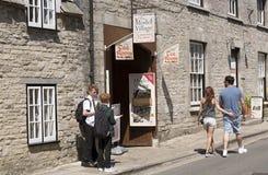 Corfe城堡的多西特英国英国式样村庄 库存图片