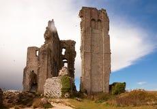 Corfe城堡,多西特,英国 免版税库存图片