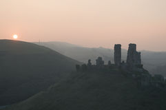 Corfe城堡 免版税库存图片