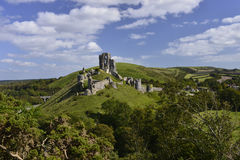 Corfe城堡 库存照片