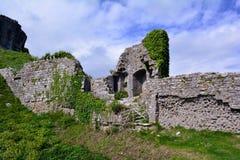 Corfe Ancient Castle Ruins in Dorset Stock Photo