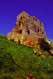 Corfe Ancient Castle Ruins in Summer Stock Image