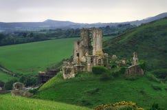 Corfe Castle. The Corfe Castle from Dorset, England Royalty Free Stock Photo