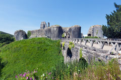 Corfe Castle & Bridge Royalty Free Stock Images