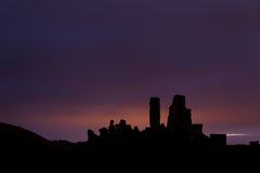 Corfe Castle before Dawn Royalty Free Stock Images