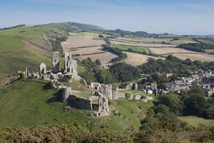 Corfe Castle, Dorset Royalty Free Stock Images