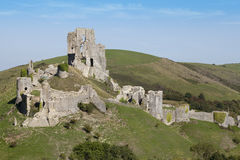 Corfe Castle, Dorset. The ancient ruins of Corfe Castle on the Isle of Purbeck, Dorset, UK Stock Photos