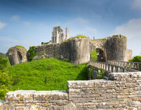 Corfe Castle Dorset England Purbeck Hills Royalty Free Stock Photography