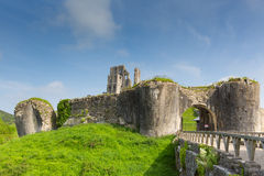 Corfe Castle Dorset England Purbeck Hills Stock Photography