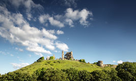 Corfe castle in dorset Royalty Free Stock Images