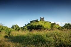 Corfe castle in dorset Stock Photo