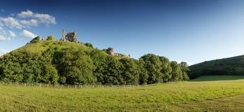 Corfe castle in dorset Royalty Free Stock Image