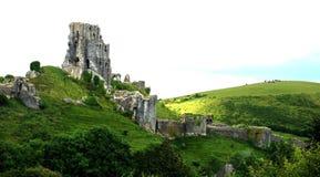 Corfe Castle, Dorset. Ruins, history Stock Photography