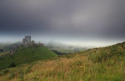 Corfe castle England Royalty Free Stock Photos