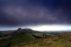 Corfe castle England Royalty Free Stock Images