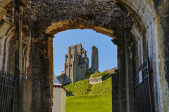 Corfe Castle England. Corfe Castle in Dorset England Stock Images