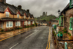 Corfe Castle HDR Stock Images