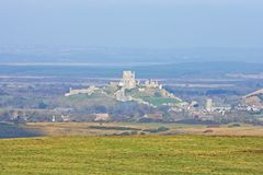 Corfe Castle, In Swanage, Dorset, Southern England Royalty Free Stock Photo