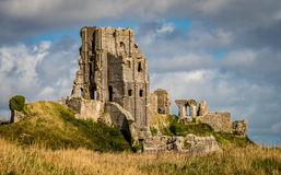 Corfe Castle Middle Section. The middle section of Corfe Castle, a medieval castle located in the Purbeck Hills, located in Dorset in the South of England Stock Image
