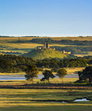 Corfe Castle and Poole Harbour Royalty Free Stock Photo