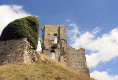 Corfe castle ruin Royalty Free Stock Image