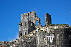 Corfe Castle Ruins Royalty Free Stock Photography
