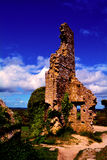 Corfe Castle Ruins in Dorset Royalty Free Stock Photo