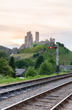 Corfe Castle Stock Photo