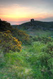 Corfe castle sunrise Royalty Free Stock Photography