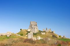Corfe Castle, in Swanage, Dorset, Southern England royalty free stock image