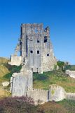 Corfe Castle, in Swanage, Dorset, Southern England stock image