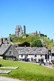 Corfe castle and village centre. Stock Photo