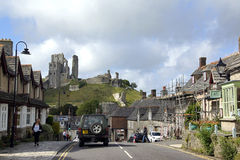 Corfe Castle village Royalty Free Stock Image