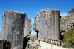 Corfe, England: Eingang zum Corfe Schloss Stockbilder