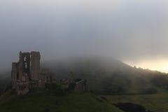 Corfe grodowy Anglia Zdjęcie Royalty Free