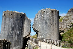 Corfe, Inglaterra: Entrada al castillo de Corfe Imagenes de archivo