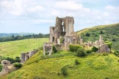 Corfe roszuje, Dorset, Anglia, Zjednoczone Królestwo Zdjęcia Stock