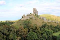 Corfe-Schloss Stockfoto