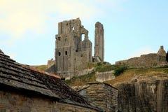 Corfe Schloss, Dorset Lizenzfreies Stockbild
