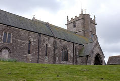 Corfe Schloss-Kirche, Dorset, England lizenzfreie stockfotos