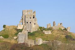 Corfe Schloss, in Swanage, Dorset, Südengland Stockfotografie
