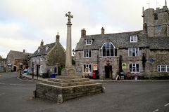 Corfe-Schlossdorf, Dorset Lizenzfreie Stockfotografie