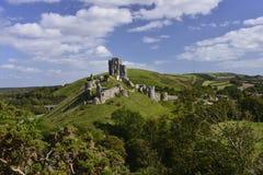 Corfe slott arkivfoto