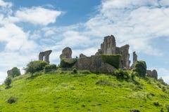 Corfe slott royaltyfria bilder
