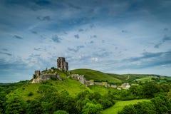 Corfe slott Dorset Arkivfoton